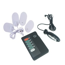 Multi electric shock Physical therapy chest chip anal plug vagina tight electro stimulation medical themed adult sex toys game