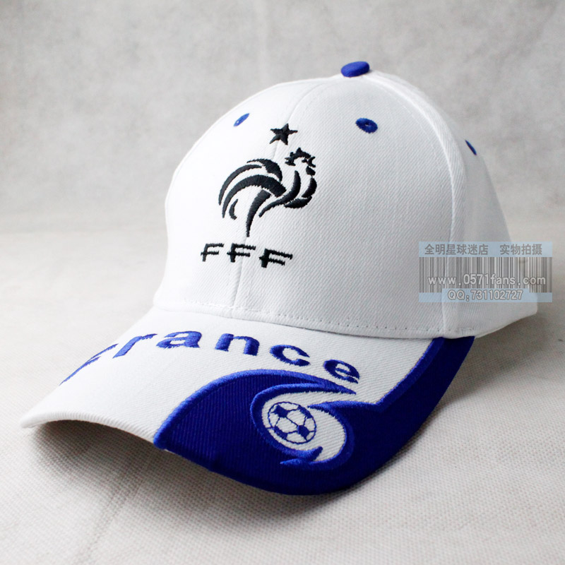 Football Team logo embroidery Sun hat France Baseball cap football hat  France national football team 2 colors available soccer bd05fbef0