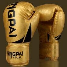 50c1a2534 Adultos de alta Qualidade Mulheres Homens de Couro Luvas De Boxe MMA Muay  Thai Boxe