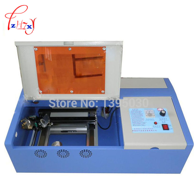 Hot Sale 1PC CO2 40W Laser Engraving Cutting Machine Engraver with go up and down function stamp laser machine 3020 with lift system up and down function 40w heigh configration