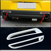 Car styling 6pcs For Chevrolet Chevy Camaro 2016-2017 Sixth ABS chrome tail light lamp decoration cover car accessories