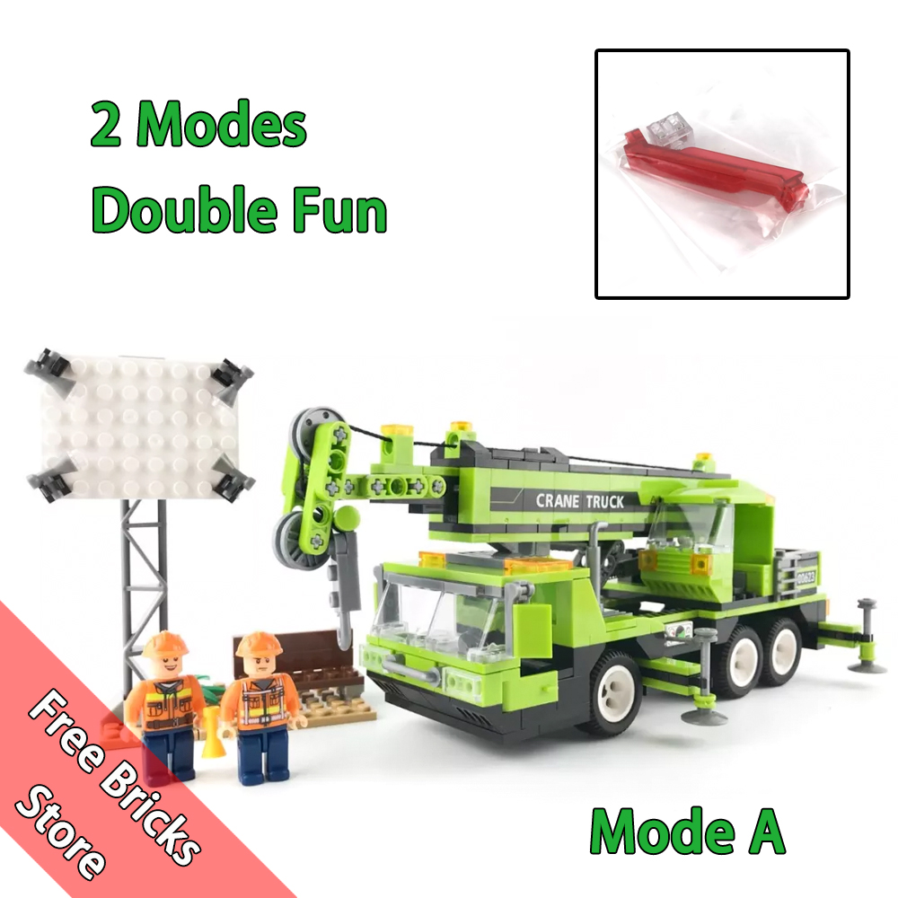 481 PCS 2 Mode in 1 Set WOMA C0623 Compatible Legoe City Builder All Terrain Tower Crane Model building blocks toy for kids Gift