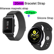 20mm Strap Bracelet For Xiaomi Huami Amazfit GTS Watchband Bip Watchstrap GTR 42mm Stainless Steel Metal Band