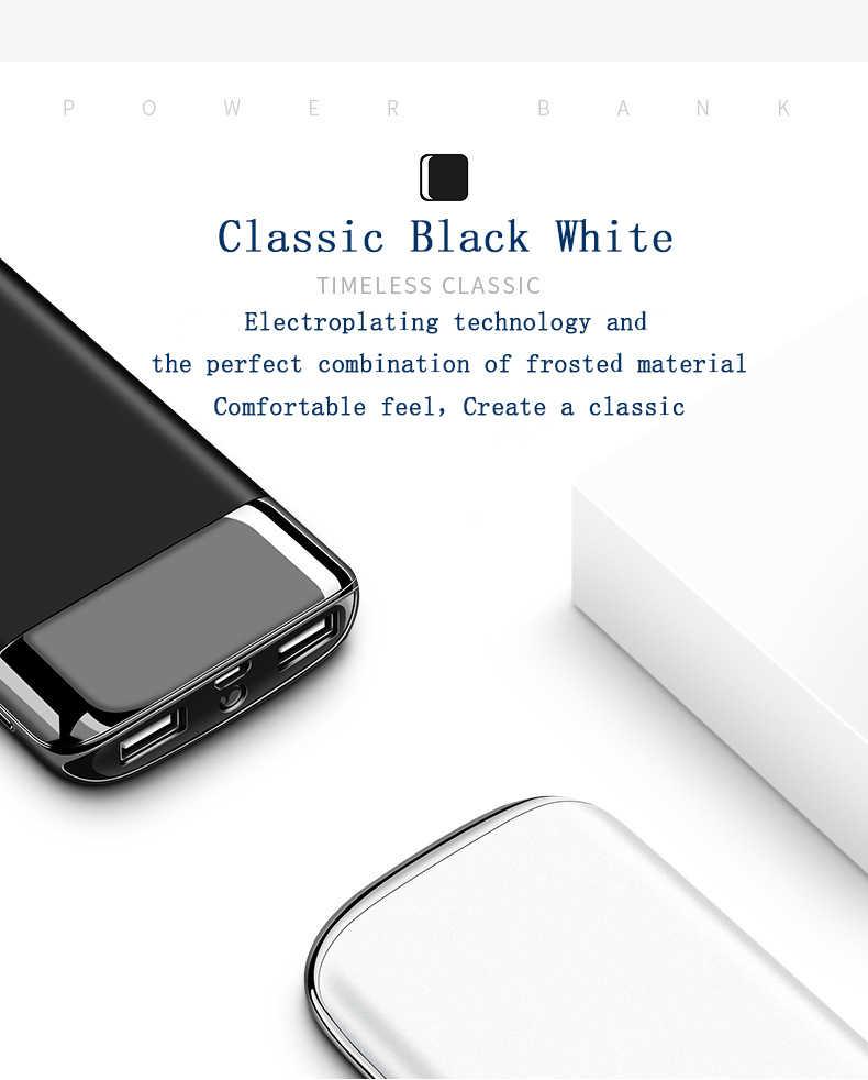 ل Xiaomi هواوي 5G iphone XS 30000 mah قوة البنك بطارية خارجية PoverBank 2 USB LED تجدد Powerbank المحمولة الهاتف المحمول شاحن