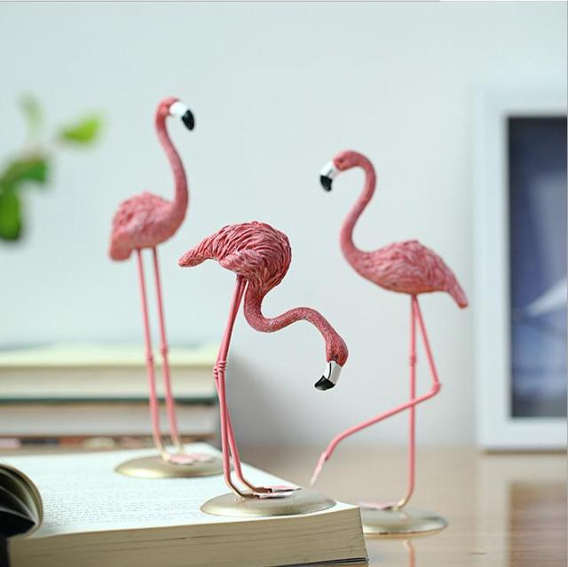 Home 1 Piece Resin Pink Flamingo Decor Figure For Ins Hot Gifts