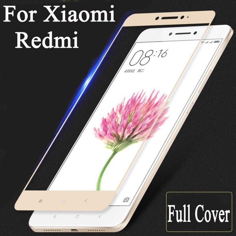 Color Full Cover Screen Protector Tempered Glass For Xiaomi Redmi 3S 3X 4 Pro Prime Redmi Note 4 3 2 Mi5s Mi4 Mi5 Mi 6 5S 5 Mi6