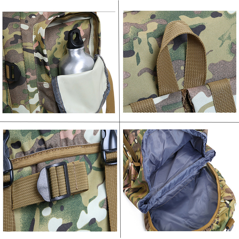 70L sac à dos en plein air Camping sac étanche alpinisme randonnée sacs à dos Molle Sport sac à dos d'escalade - 5
