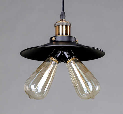 Современные креативные железные подвесные светильники промышленные подвесные лампы люстры де Сала E27 светодиодный двойные лампы для крыльца и бара и столовой CYDD009D