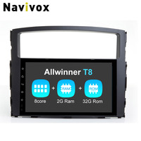 Navivox 9 2 Din Android 7 1 2 Car GPS Navigationr For Mitsubishi Pajero Stereo Video