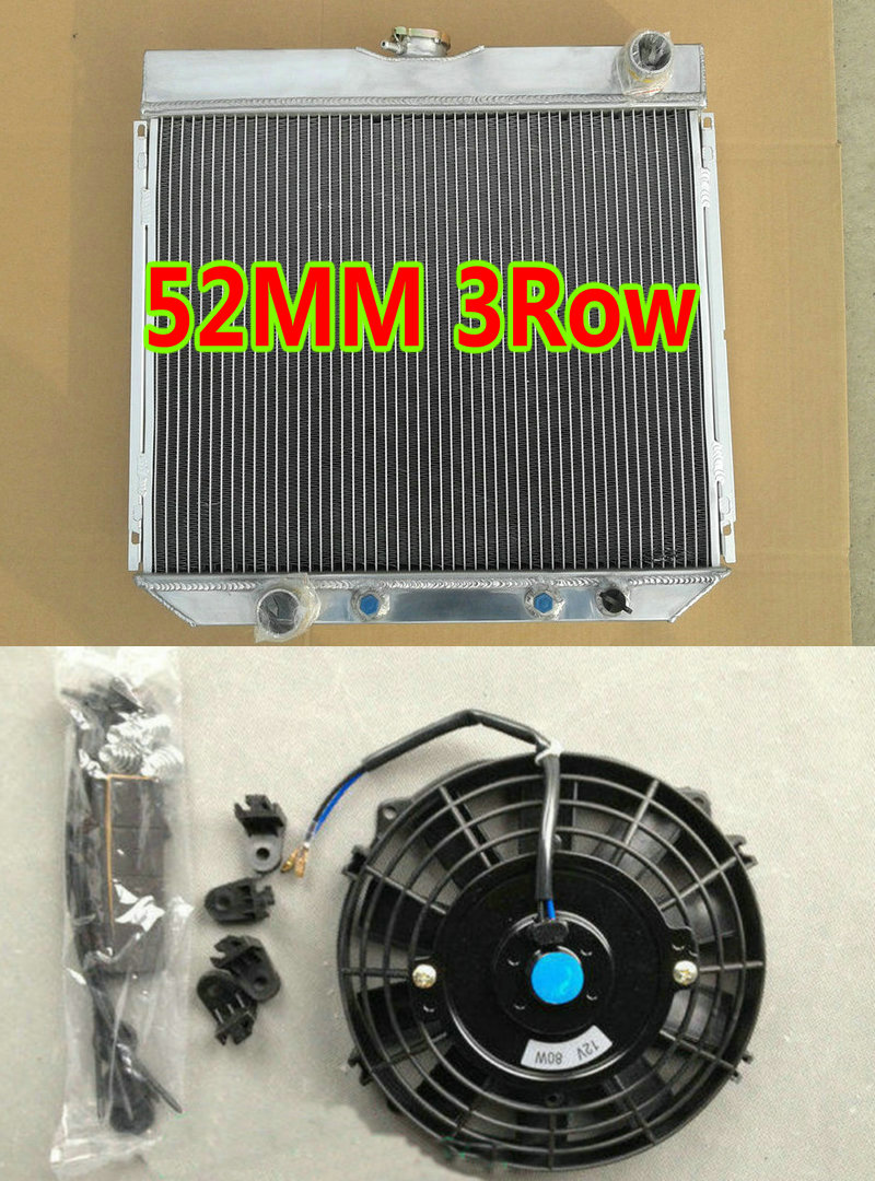 3Row Aluminum Radiator for 1967-1970 Ford Mustang//Fairlane//Torino//Mercury Cougar