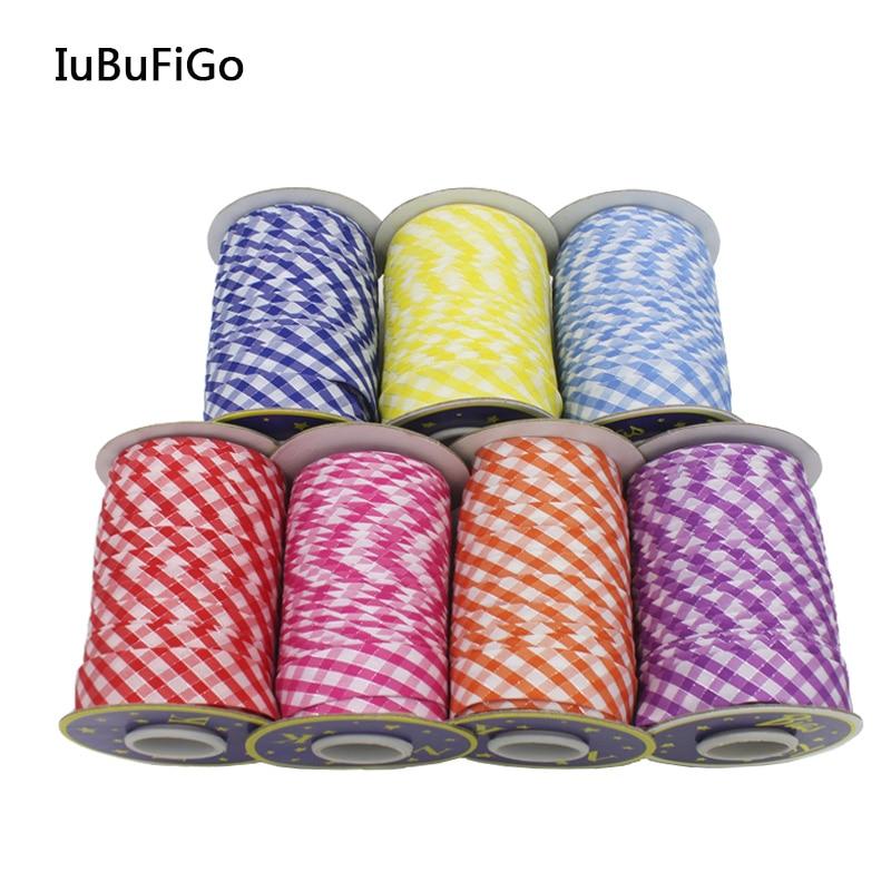 Polyester 3/4(20mm) Silver Metallic Lattice Check Bias Tape Bias Binding For DIY Garment Sewing And Trimming 50yard/roll