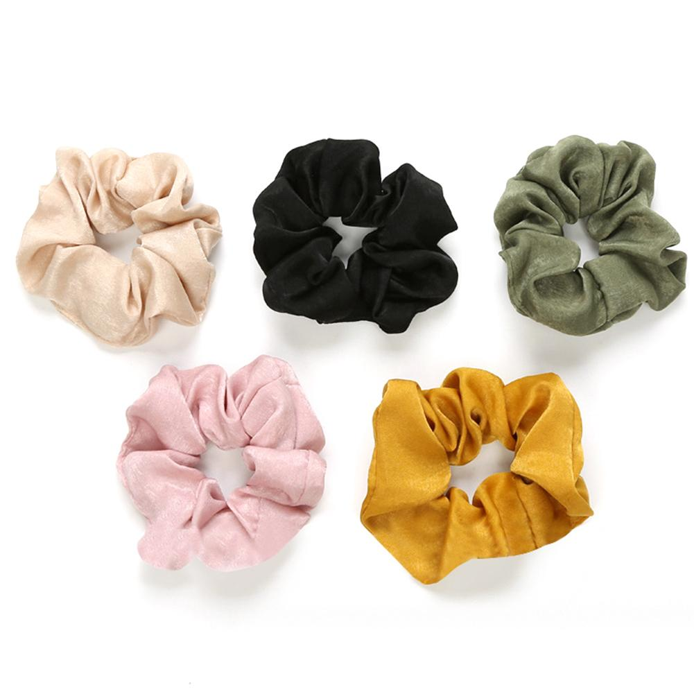 Hot Sale  Fashion Lady Hair Scrunchies Ring Elastic Hair Bands Pure Color Bobble Sports Dance Scrunchie for Women Girls Dropship