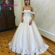 LEIYINXIANG Wedding Dress Bride Backless Ball Gown