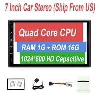 Rhythm Universal 2 Din Android Car DVD Player GPS Wifi Bluetooth 7 Inch Screen Car Radio