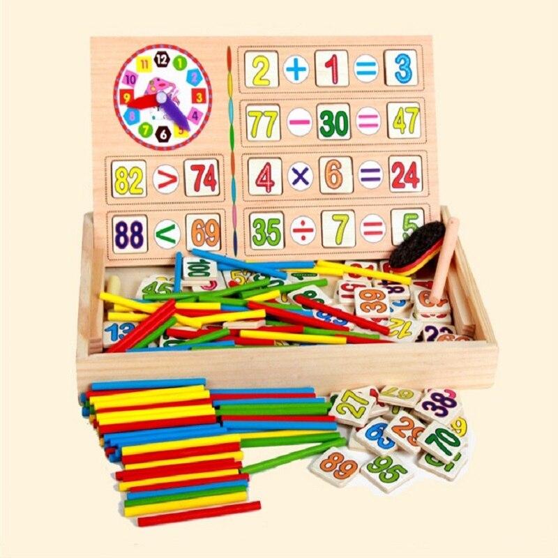 Nouveauté bébé jouets compte bâtons Math jouets en bois boîte d'opération numérique blocs éducatifs dessin jouet enfant cadeau d'anniversaire