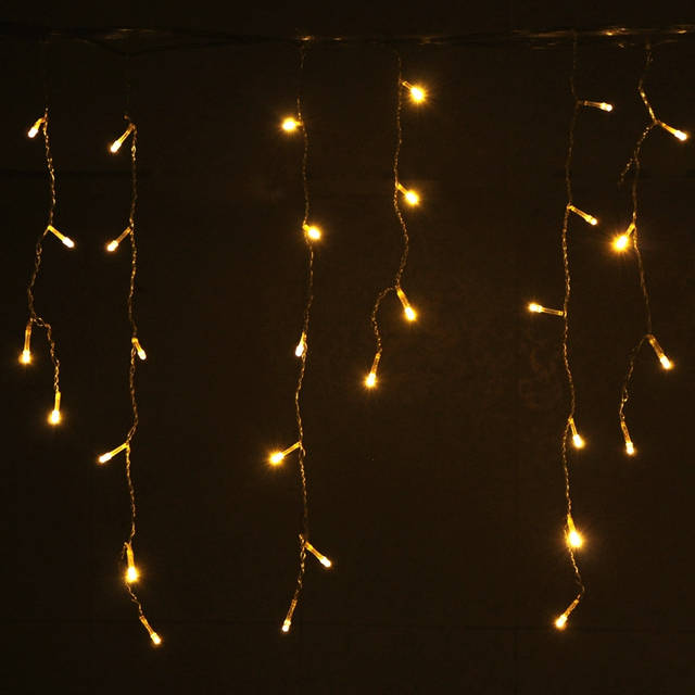 competitive price 2d315 18d35 US $29.81 40% OFF|Led Waterfall Light Icicle Stripe Window Curtain Fairy  Lights Large Outdoor Christmas Decorations,AC 110 220V H 26-in Holiday ...