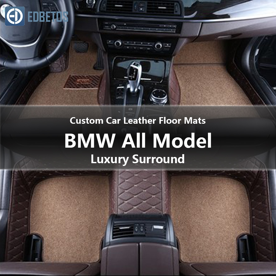 Custom Car Leather Floor Mats for BMW All Models 330Ci 330xi 335d 335i 335i GT xDrive 335i xDrive Luxury Surround Wire Floor Mat-in Floor Mats from Automobiles & Motorcycles