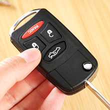 4 Buttons Car Folding Flip Remote Key Case Shell for DODGE CHRYSLER 300 Aspen JEEP Auto Key Case Cover Replacement Shell