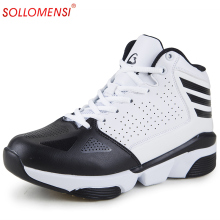 2016 New women and men basketball shoes Breathable outdoor Athletic shoes zapatos hombre autumn ankle boots basket homme