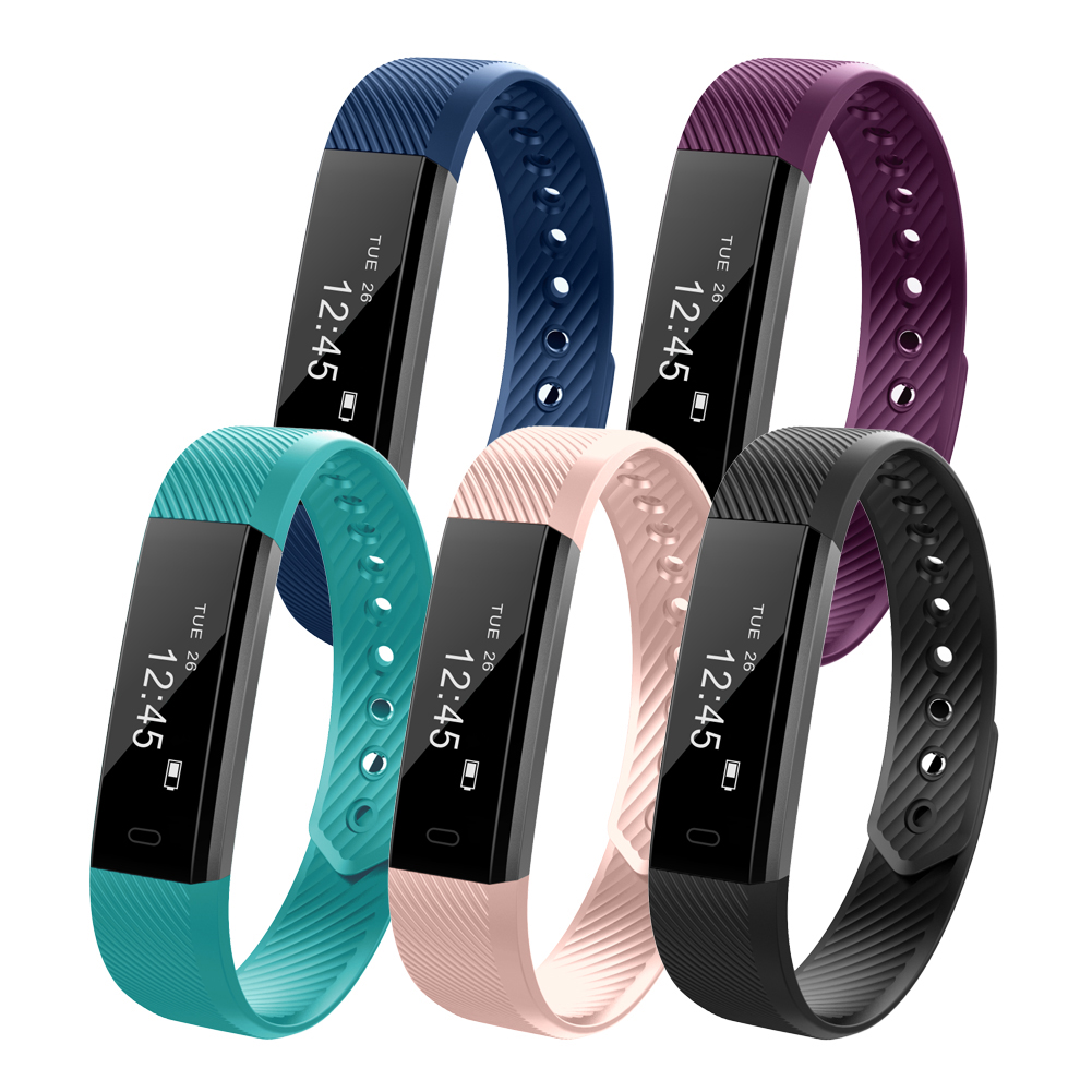 Tecnología Smart wristband fitness pulsera id115 HR heart rate Monitores impermeable Bluetooth 4.0 con Android ios