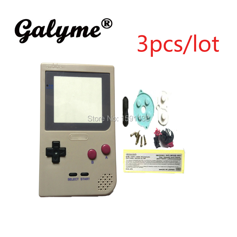 New Product 3pcs/lot Gray Color Housing Shell Fit For GameboyGB Pocket GBP Game Console Replacement Case Pads Boy Game Kids Gift