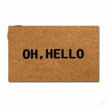 Rubber Doormat For Entrance Door Floor Mat Oh, Hello Designed Non-slip 18 by 30 Inch Non-woven Fabric