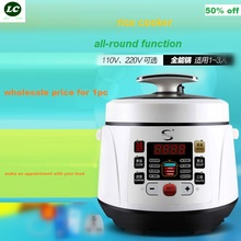 FREE SHIPPING rice cooker UTENSIL 2 litre mini Electric pressure cooker US /EU plug