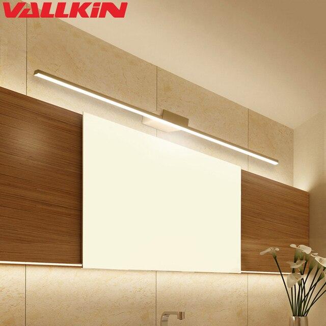 Modern Simple Mirror Light for Bathroom LED Wall Lamp Fixtures Metal Wall Lights Lighting for Makeup Barbershop Dressing Table