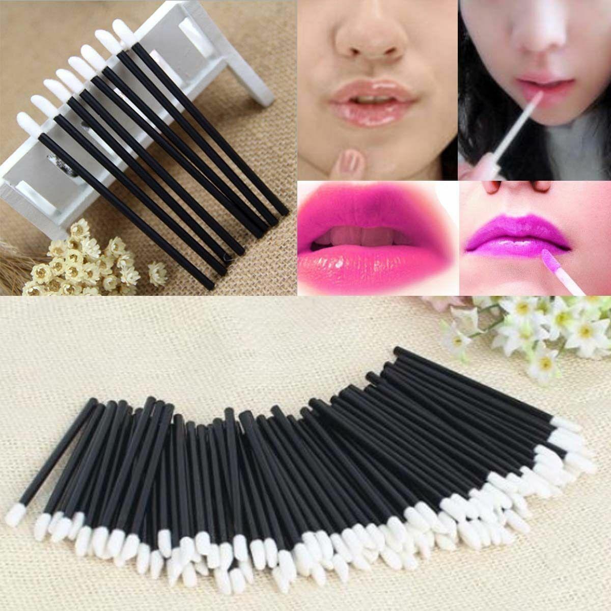 100 Pcs Disposable Lip Brush Eyelash Makeup Brushes Lash Extension Mascara Applicator Lipstick Wands Set Cosmetic Makeup Tools