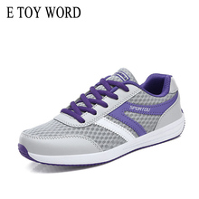 купить E TOY WORD Spring Summer womens casual shoes mesh breathable Fashion Women Shoes Outdoor Walking flat sneakers women дешево