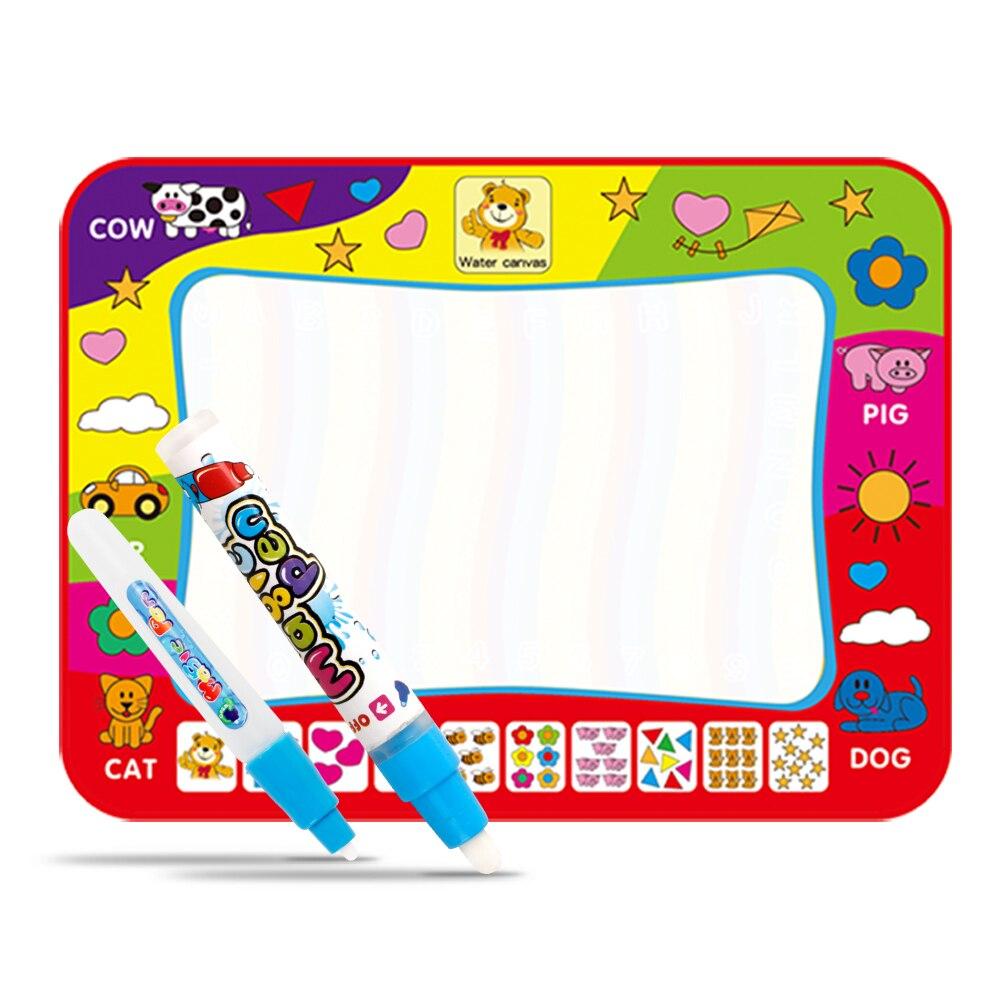 Новый 80x60 см Детские добавить воды с Magic Pen Doodle картина Вода Рисование играть мат в рисунок игрушки подарки доска
