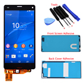 "4.5"" Black White For Sony Xperia Z3 Mini Compact D5803 D5833 LCD Display Touch Screen Digitizer Assembly+A Set Of Adhesives+Tool"