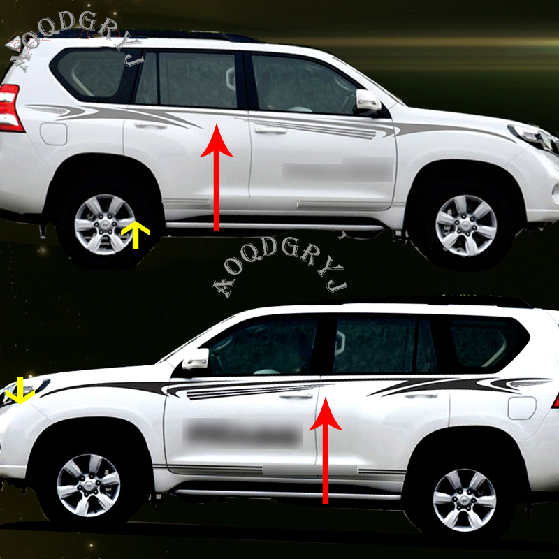 Car Garland Full Body Sport Vehicle SUV Pull Stickers for Mitsubishi Pajero