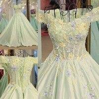 Long Satin Evening Dress vestido longo de festa Romantic Evening Gown Women Lace Up Formal Dresses AB28