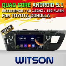 WITSON Android 5.1 CAR DVD GPS for TOYOTA LEVIN 2014 Capacitive touch screen Cortex A9 Qual-core 16GB Rom+Free Shipping