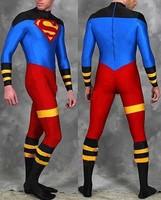 Superboy Costume Lycra Spandex Zentai Superman Costumes adults/kids Halloween Cosplay zentai catsuit party Skin suit