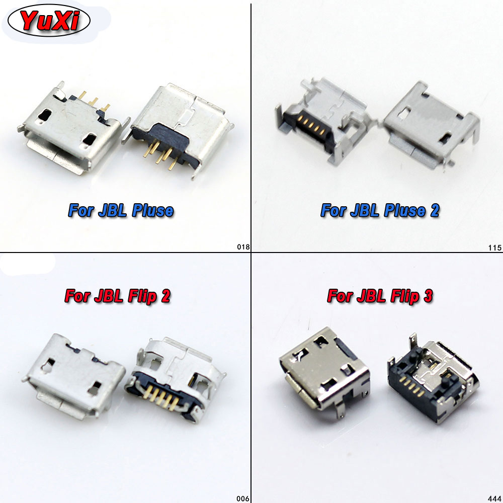 Yuxi 2pcs For <font><b>JBL</b></font> FLIP <font><b>3</b></font> 2 Pulse 2 Bluetooth <font><b>Speaker</b></font> Micro USB Jack Dock <font><b>Charging</b></font> Port Charger Connector Power Plug <font><b>Repair</b></font> Parts image