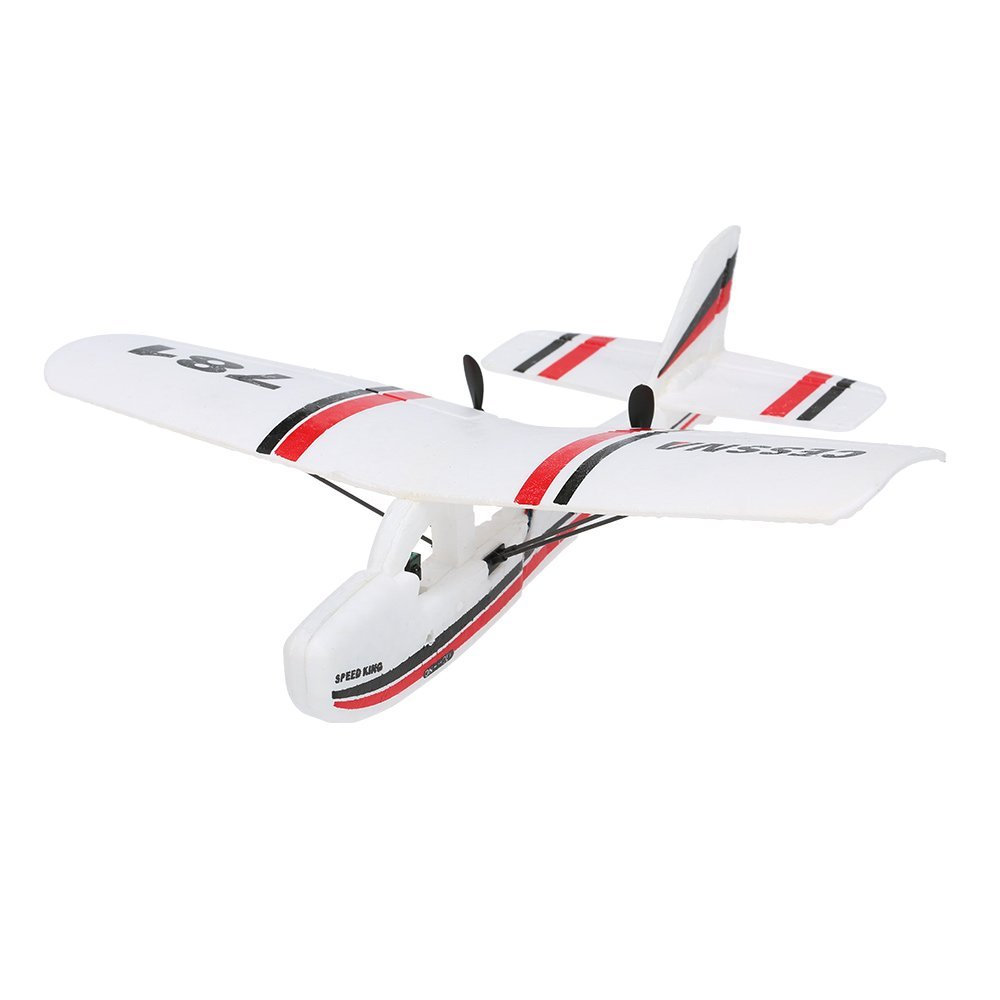 EBOYU(TM) RC TW-781 Cessna 2.4G 2CH RC Airplane 200mm Wingspan Mini EPP Infrared Remote Control Indoor Drone Aircraft RTF