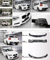 Carbon Fiber CAR FRONT LIP BUMPER + SPOILER +REAR TRUNK DIFFUSER COVER FOR BMW F20 116i 118i 120i 125i 2012 2013 2014 2015 2016