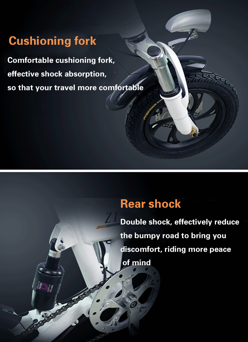 Perfect 14inch folding electric bike mini lithium battery bicycle Portable adult  powered motorcycles Two-disc brakes electric bicycle 5