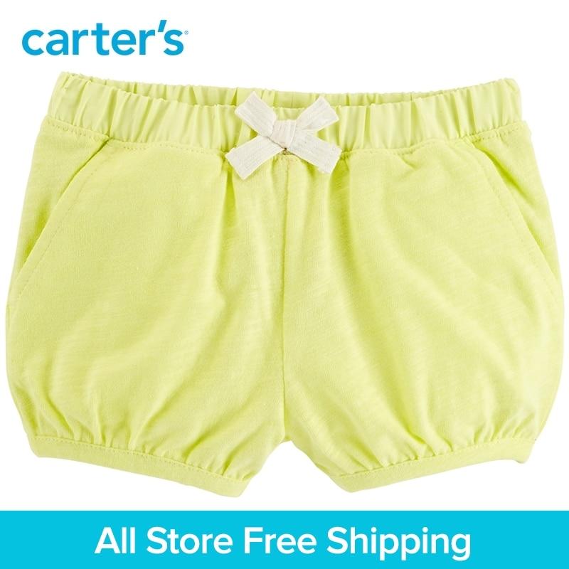 Carters 1-Piece baby children kids clothing Girl Summer Neon Slub Jersey Bubble Shorts 236G645/258G858