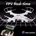 Tikob fpv zangão com câmera wi-fi hd quadcopters rc dron x5sw voar hexacopter toys vs syma helicóptero de controle remoto de vídeo