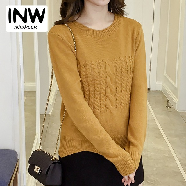 Aliexpress.com : Buy 2018 Autumn Winter Knitted Sweaters And ...