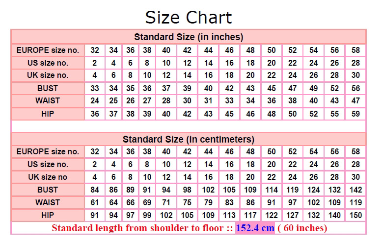Prom Dress Size Chart 2other Dressesdressesss