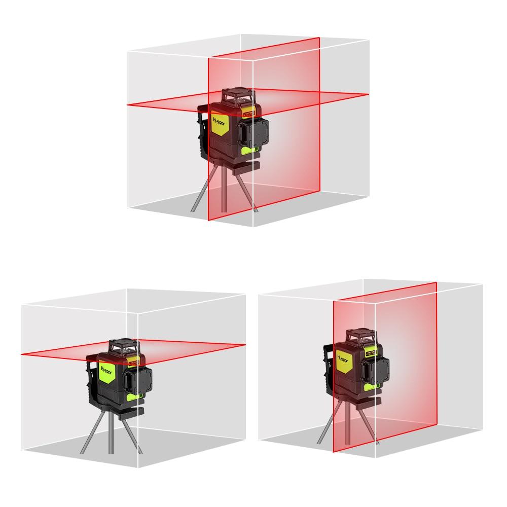Tools : Huepar 8 lines laser level Self-leveling 3D Laser Level Red Beam 360-Degree Coverage Horizontal  amp  Vertical Laser with Pulse Mode