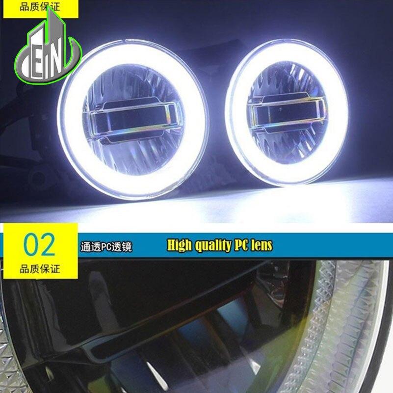 EN Daytime Running Light Fog Light For Mitsubishi L200 KB_T KA_T Pickup 2005-2015 LED Angel Eyes DRL Fog Lamp 3-IN-1 Functions