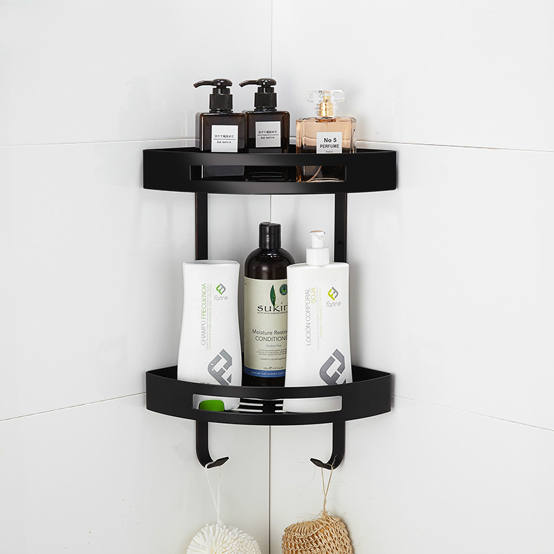 corner shelves black - Corner Bathroom Shelf