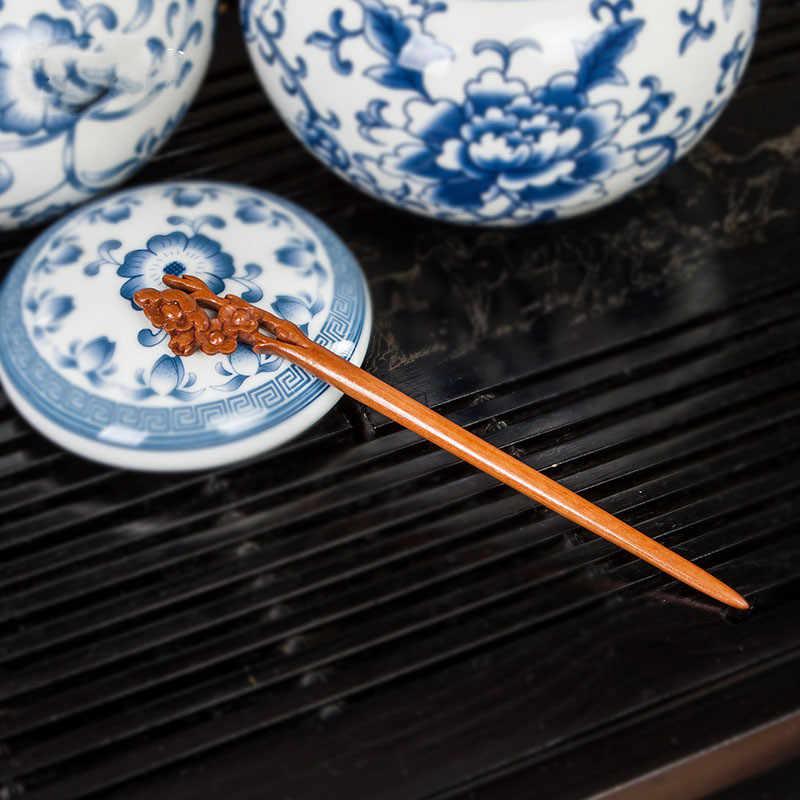 1 шт. ретро этнические женские деревянные резные палочки ручной работы палочка для волос деревянная палочка для волос модные аксессуары для волос 4 стиля