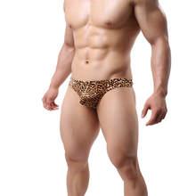 цены на Sexy Briefs Men Underwear Plus size Leopard Low Waist Sexy Men Underwear Briefs Homme Cueca Panties Summer Thin Breathable 2019  в интернет-магазинах