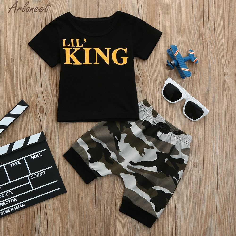 ARLONEET Kids Baby Boys Letter Tops+Camouflage Shorts Outfits Set Children Clothing Summer Mar16 F20d30 2018 Dropshipping